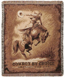 Bronc Rider Tapestry Throw
