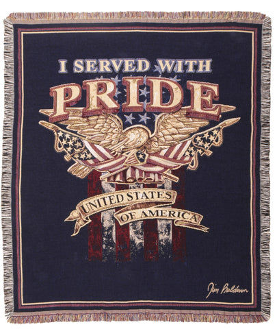 I Served With Pride Tapestry Throw