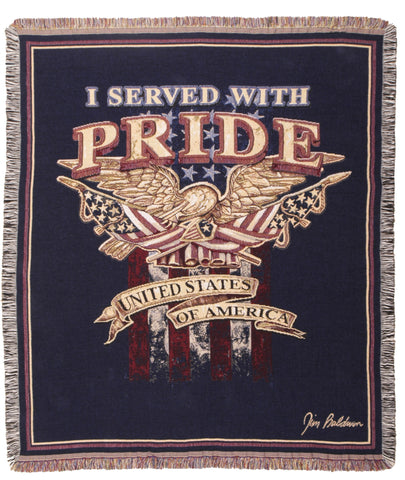 Tapestry - I Served With Pride Throw