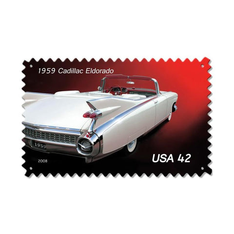 1959 Cadillac Metal Sign Wall Decor 16 x 24
