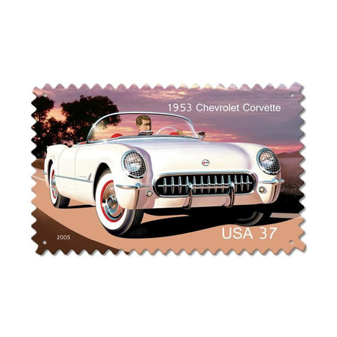 1953 Chevrolet Corvette Metal Sign Wall Decor 16 x 24