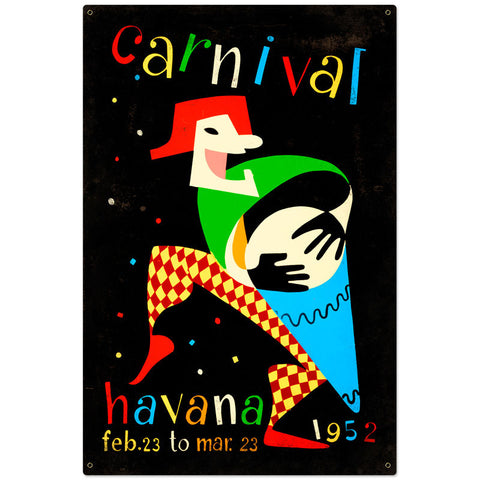 Carnival Havana Metal Sign Wall Decor 24 x 36