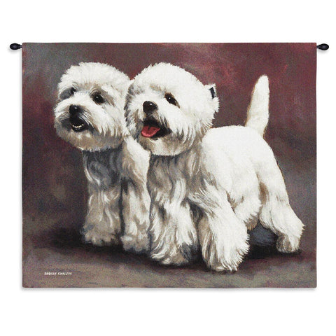 West Highland White Terrier 3 Wall Tapestry With Rod