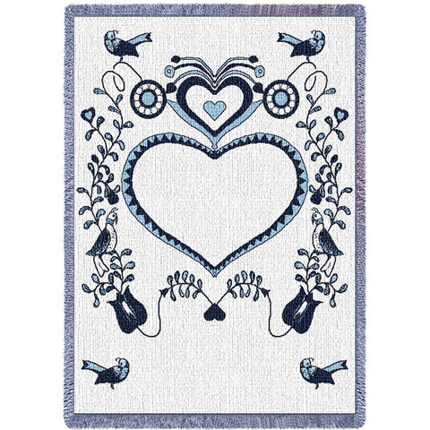 Announcement Navy Blue Small Blanket