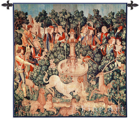 The Unicorn is Found Small Wall Tapestry