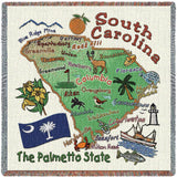 South Carolina State Small Blanket
