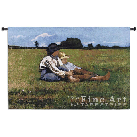 Boys in a Pasture Wall Tapestry