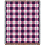 Boysenberry Plaid Blanket