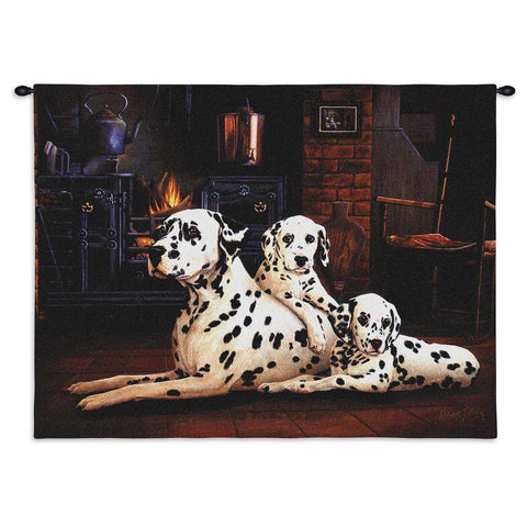 Dalmatian Wall Tapestry with Rod