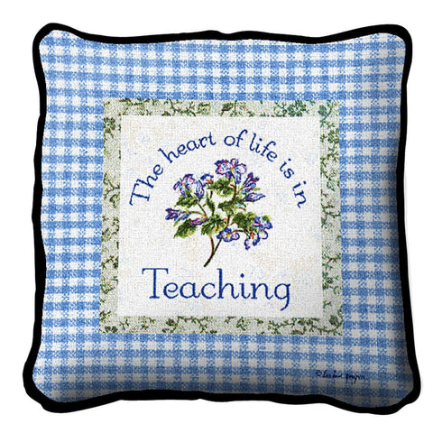 Heart In Teaching Pillow
