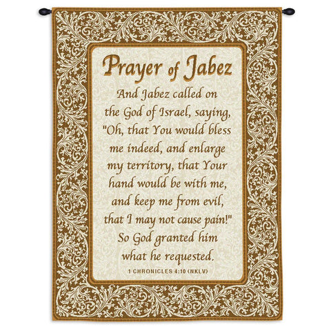 Prayer Of Jabez Wall Tapestry With Rod