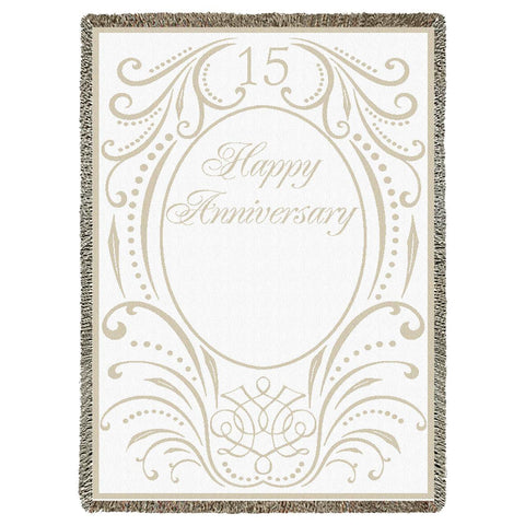 Anniversary Scroll 15 Years Blanket