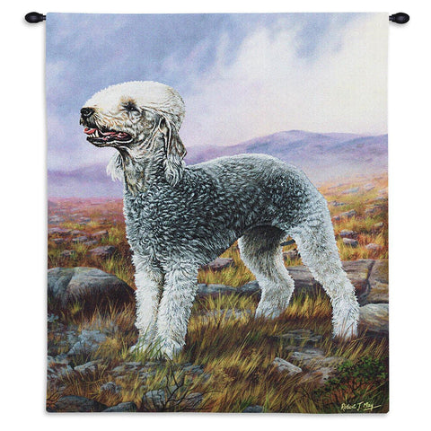 Bedlington Terrier Wall Tapestry With Rod
