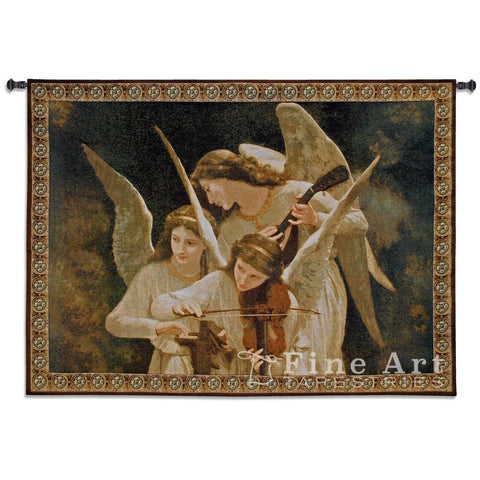 Angels Playing Violin Wall Tapestry