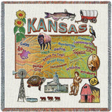 Kansas State Small Blanket