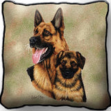 German Shepherd with Puppy Pillow