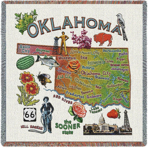 Oklahoma State Small Blanket