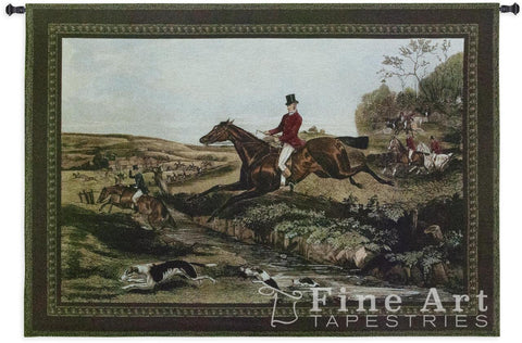 English Hunting Scenes IV Wall Tapestry