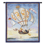 Airship Wall Tapestry With Rod