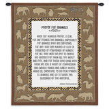 Prayer For Animals Wall Tapestry With Rod