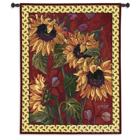 French Sunflower II Wall Tapestry