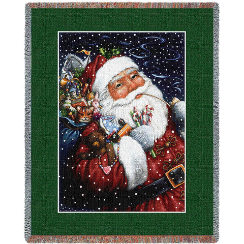 Smoking Santa Blanket