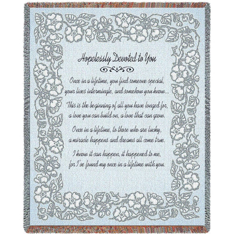 Wedding Embroidery Silver Blanket