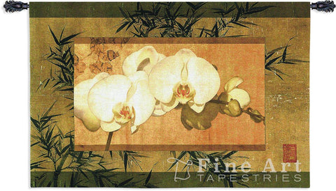 Bamboo And Orchids II Wall Tapestry