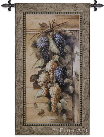 Poetic Grapes Wall Tapestry