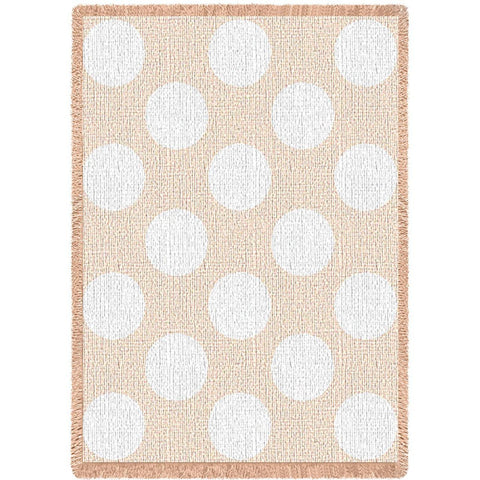 Polka Dots Natural Small Blanket