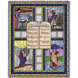Ten Commandments Stained Glass Blanket