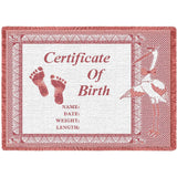 Birth Certificate Pink Small Blanket