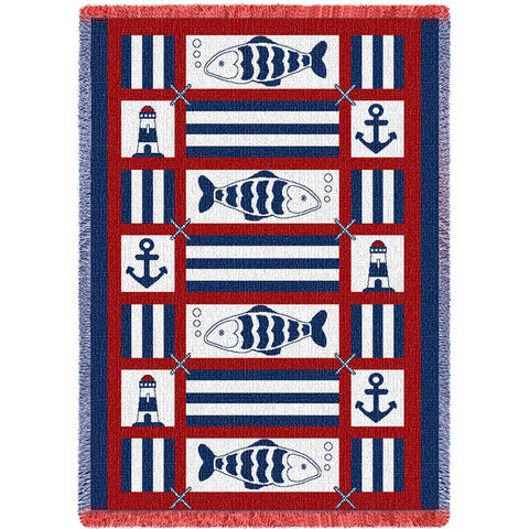 Nautical Fish Blanket