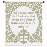 Baby Cross with Scripture Wall Tapestry With Rod