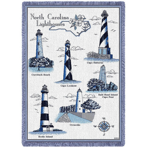Lighthouses of North Carolina Blanket