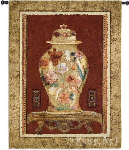 Romantic Urn I Wall Tapestry