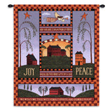 Joyful Home Wall Tapestry With Rod