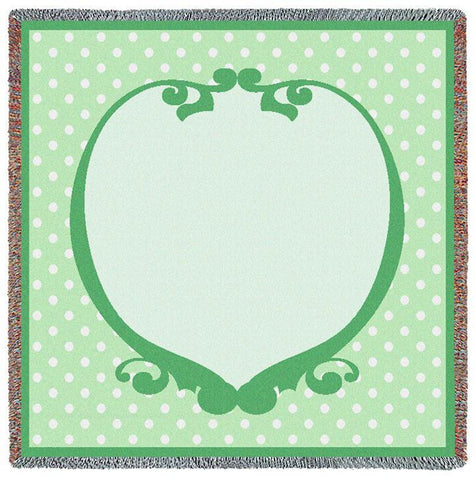 Polka Dot Ivy Small Blanket