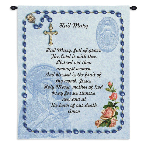 Hail Mary Wall Tapestry With Rod