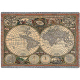 Old World Map Blanket