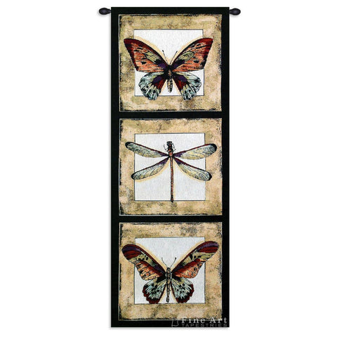 Butterfly Dragonfly I Tapestry Wall Tapestry