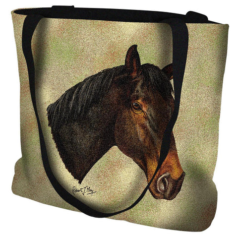 Thoroughbred Dark Brown Tote Bag