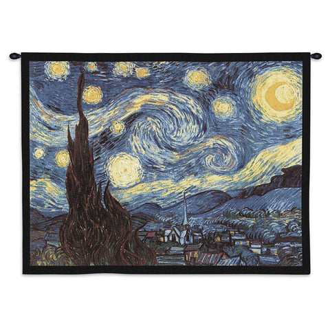 The Starry Night Wall Tapestry With Rod