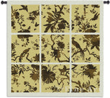 Floral Division Gold Small Wall Tapestry