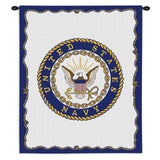 Navy Wall Tapestry With Rod