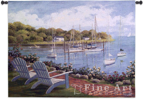 Harborside Reflection Wall Tapestry