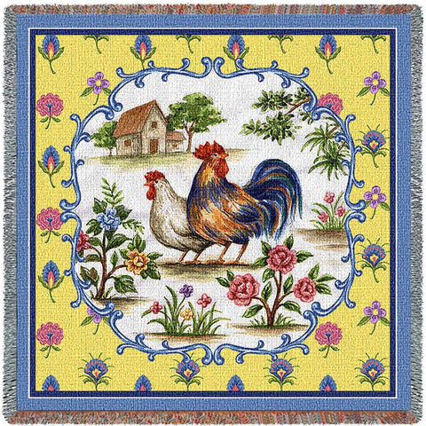 Country Roosters Small Blanket