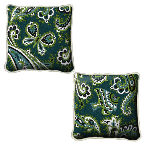 Paisley Teal Pillow