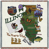 Illinois State Small Blanket