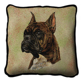 Boxer  Brindle Pillow